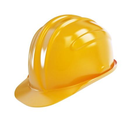 protective helmets: casco costruzione su sfondo bianco  Archivio Fotografico