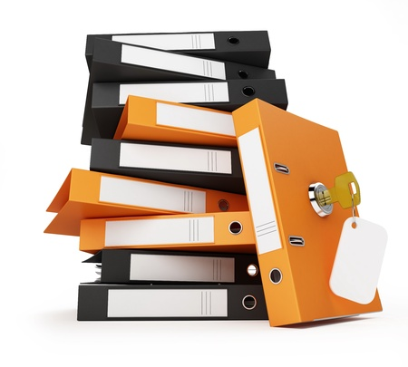 security office documents and folders Stock Photo - 8684791