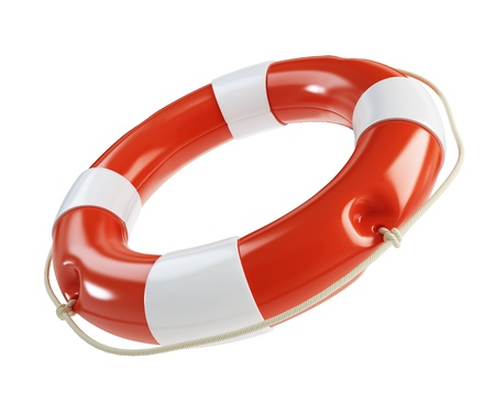 Life Buoy isolated on a white background  Stock Photo