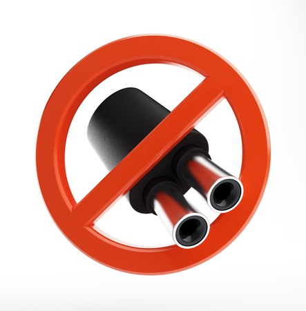 no exhaust pipe on a white background  photo