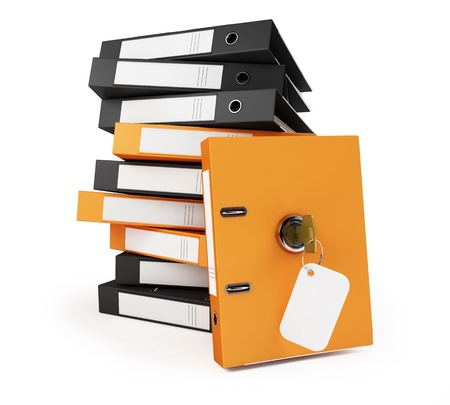 security office documents and folders on a white background  photo