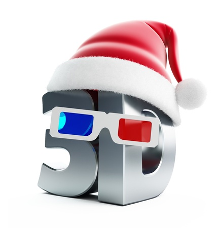 christmas movies: 3d movie Christmas movies isolated on a white background