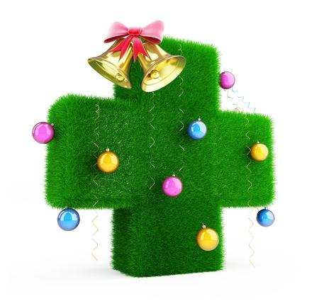 Medical Cross Christmas Tree photo