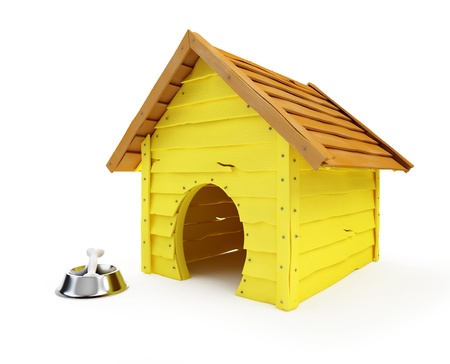 dog kennel: dog house