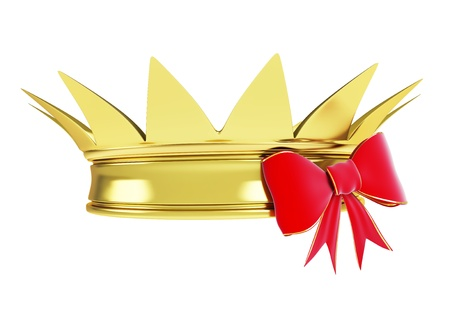 gold crown with a ribbon  photo