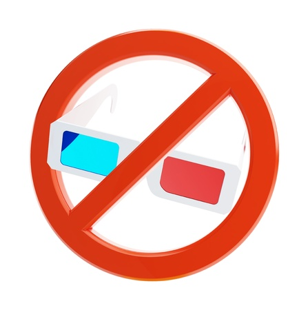 no 3d glasses on a white background Stock Photo - 13862739