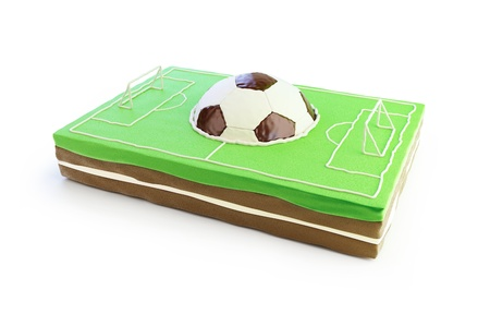 football field cake 3d  on a white background Stock Photo