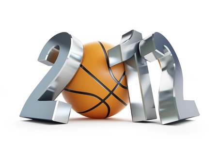 basketball ball 2012 on a white background  photo