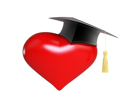 examiert: school dating graduation cap  Valentine Stock Photo
