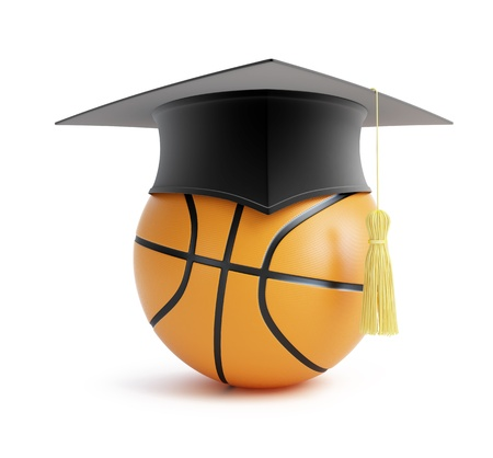 Basketball-Schule auf weißem Hintergrund Standard-Bild - 13868727