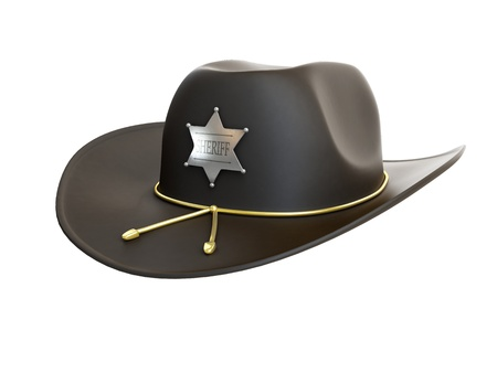 sheriff hat on a white background photo