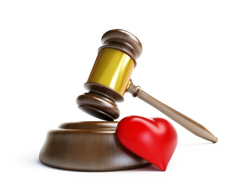 divorce in court on a white background Zdjęcie Seryjne - 13869658