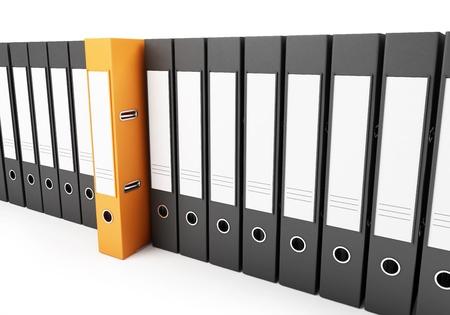 office folders on a white background Zdjęcie Seryjne - 13869915