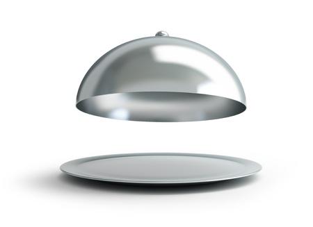 open tray on a white background Zdjęcie Seryjne - 13869877