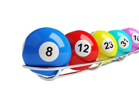 loteria: bolas de la lotería sobre un fondo blanco