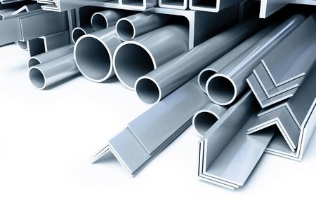 metal pipes, angles squares Zdjęcie Seryjne - 13870527