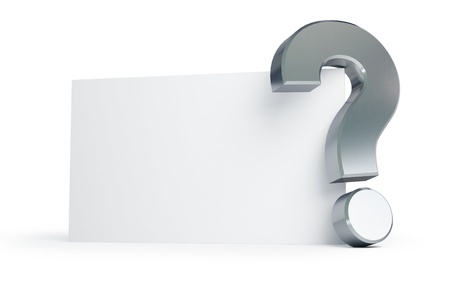 note of exclamation: question mark on a white background  Stock Photo