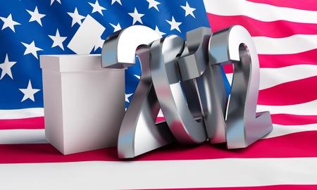 Präsidentschaftswahlen in den USA auf einem weißen Hintergrund Standard-Bild - 13870557