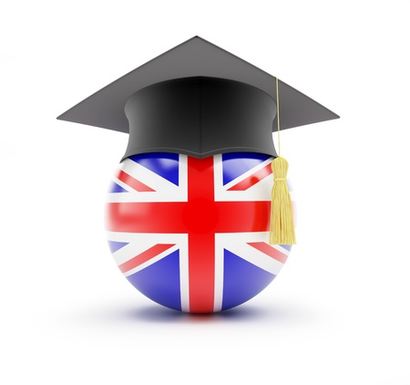 drapeau anglais: Étude en Angleterre, apprendre l'anglais