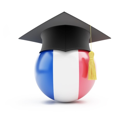 examiert: education in france on a white background Stock Photo