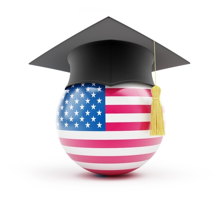 education usa on a white background Foto de archivo