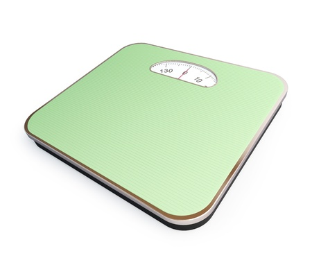kg: bathroom scale on a white background Stock Photo