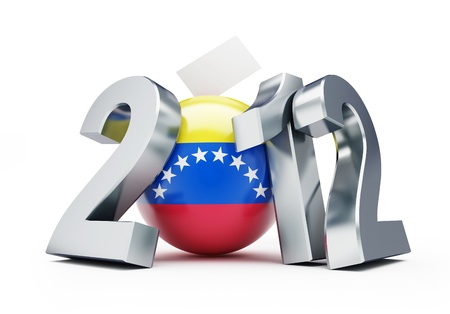 vote Venezuela 2012 on a white background photo