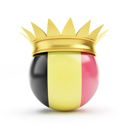 belgium crown on a white background photo