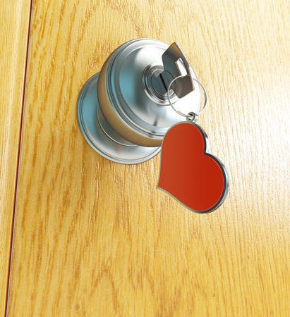 door Keys to the Heart Stock Photo - 13871308