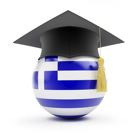 education in greece on a white background Stock Photo - 13871220