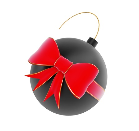 subversive: gift bomb on a white background