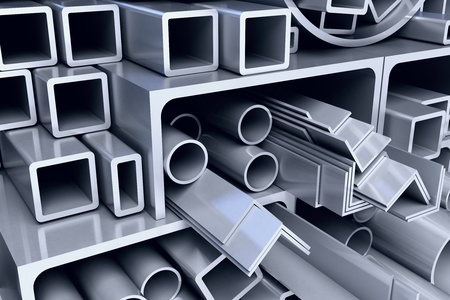steel girder: metal pipes background