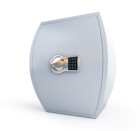 thick safe on a white background photo