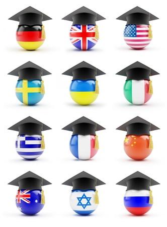 Gesetzt Bildung auf weißem Hintergrund Standard-Bild - 14439491