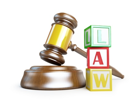 gavel law on a white background  photo