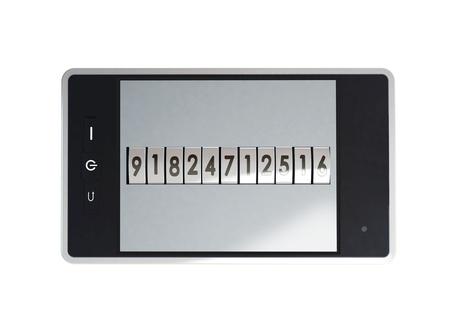 Mobile phone is locked password Stock Photo - 14668402