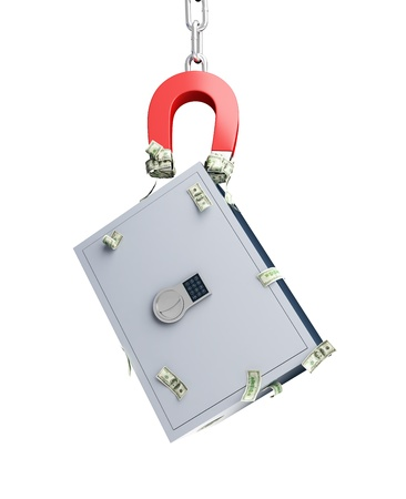 magnet safe on a white background photo
