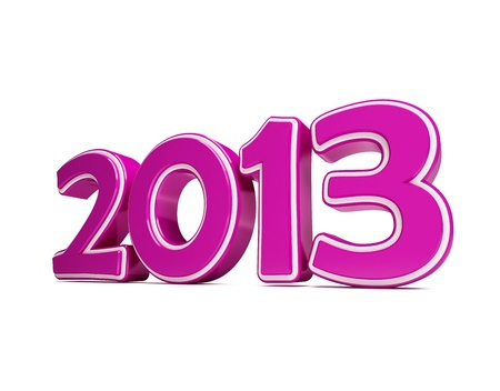 New year 2013 on a white background photo