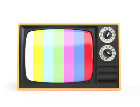Retro TV on a white background photo