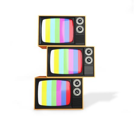 Retro TV  on a white background photo