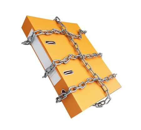 chain folder on a white background photo