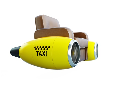 air taxi  on a white background photo