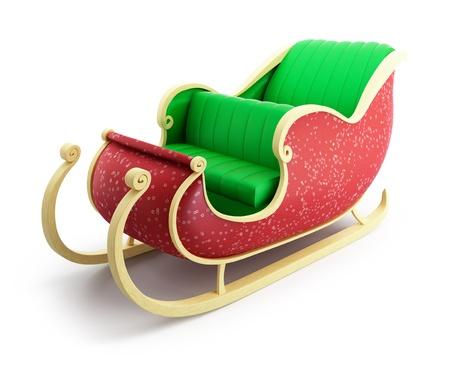 sled: santa sleigh