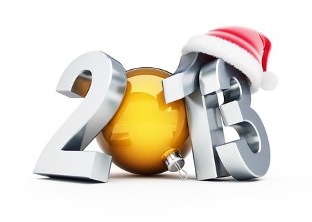 happy new year 2012 santa hat on white background Stock Photo - 15480216