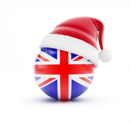 Christmas in England on a white background photo