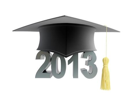 alumnus: graduation cap 2013 Stock Photo