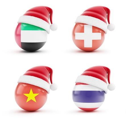 santa cap: Christmas in United Arab Emirates, Thailand, Switzerland, Vietnam