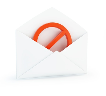 letter no sign on a white background Stock Photo - 17151593