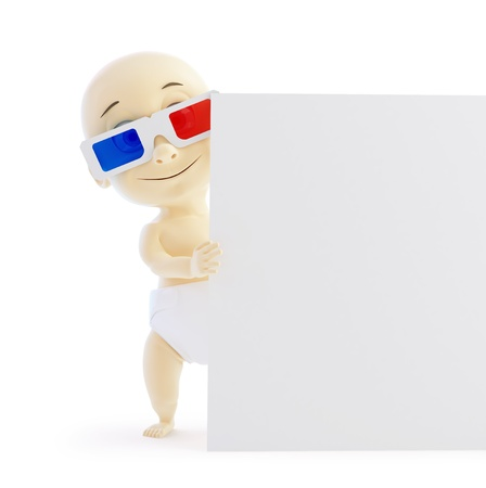 baby 3d blank on a white background Stock Photo - 17663515