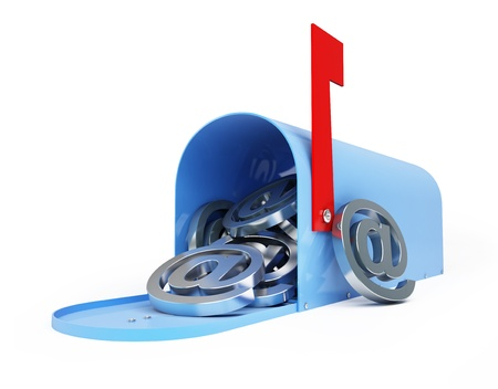 spam mail: mailbox e-mail, email, spam 3d Illustrations on a white background